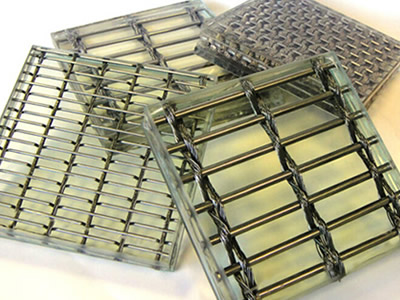 There are four woven wire mesh laminated glass, but in different woven wire mesh type.